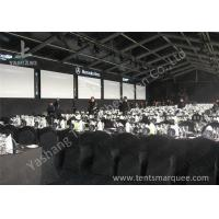 Buy cheap Portable Large Clear Span Fabric Structures Black PVC Fabric Roof Cover from wholesalers