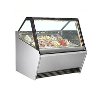 Buy cheap Modern Design Popsicle Display Showcase Ice cream freezer with Double-Layer Anti-Fog Glass from wholesalers