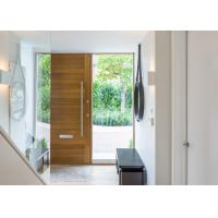 Buy cheap Double Swing Outdoor Solid Wood Door With Tempered Clear Glass Inserts from wholesalers