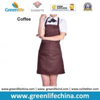 Buy cheap Dirty resistant coffee color unisex working apron with 2pockets for coffee shop waiters from wholesalers