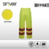 Buy cheap PVC plastic coating waterproof Reflective Safety Pants , 2 hand warm pockets product