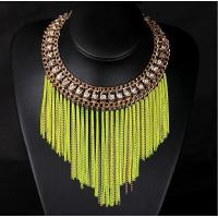 Buy cheap TPN-8 fluorescent short metal chain necklace tassel necklace wholesale from wholesalers