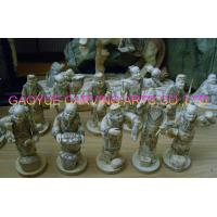 Buy cheap Bone netsuke bone  Samurai men statues bone buddha figurines bone carvings product