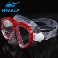 Buy cheap Clarity Red Silicone Diving Mask with Polycarbonate lens , Leak Proof Design from wholesalers