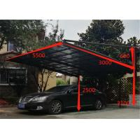 Buy cheap Garage Carport with Aluminium Alloy Frame and UV Coated Polycarbonate Sheet from wholesalers