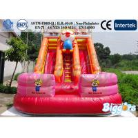Buy cheap Cartoon Inflatable Water Slip Slide Pool With Climber for Rental from wholesalers