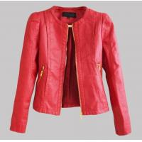 Buy cheap Women faux leather jacket PU Leather Short Jacket Feminino Jaqueta couro Sexy 3colours from wholesalers
