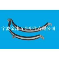 Buy cheap Size 225 Mm Heavy Duty Pipe Clamps With Rubber Stainless Steel / Galvanized Iron Material from wholesalers