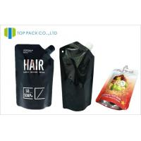 Buy cheap Black Standing Spouted Pouches Packaging Light Barrier Private Laber Lotions Packaging from wholesalers
