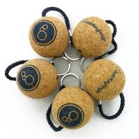 Buy cheap Wholesale Price 50mm Cork Ball Floating Key Chain with Navy Roper and Custom Printed Logo Printing product