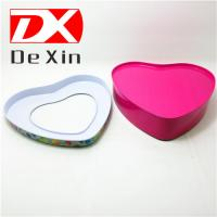 Buy cheap promotional tin box,gift tin box,cookie tin box, heart tin box with pet window from wholesalers