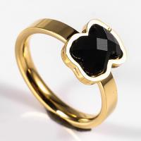 Buy cheap New design Stainless steel Ring With Black Stone Ring Jewelry from wholesalers