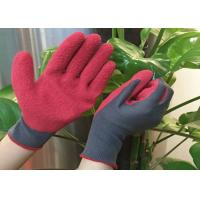 Buy cheap Flexible Warm Winter Work Gloves Acrylic Terry Liner Green Foam Latex Coated from wholesalers