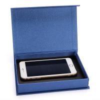 China Fancy Cell Phone Accessories Packaging Box Blue Color Clamshell Style on sale
