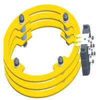 Buy cheap Big Size Slip Ring with through hole Max 1000mm  high current slip ring from 2-2000A from wholesalers