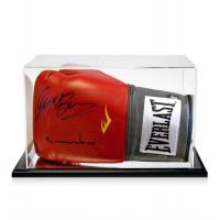 Buy cheap clear acrylic boxing glove display box from wholesalers