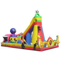 Buy cheap Children's playground equipment inflatable castle environmental Dolphin world from wholesalers