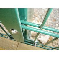 Buy cheap Green Color Double Wire Fence Rectangular Post 40 X 60mm Mesh Opening 50 X 150 Mm from wholesalers