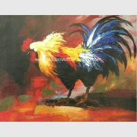 Buy cheap Animal Abstract Palette Knife Oil Painting Handmade Acrylic Cock on Canvas from wholesalers