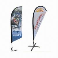 Buy cheap Beach Flags/Advertising Banners/Feather/Teardrop Flags, Available in Various Sizes product
