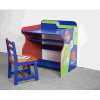 Buy cheap Toddler Wooden Sports Themed Study Desk Chair Set from wholesalers