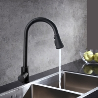 Buy cheap Stainless steel kitchen pull down faucet spray matt black kitchen faucet from wholesalers