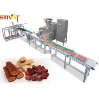 Buy cheap Stainless Steel Auto Meat Strip Traying System Cold Extrusion Pet Treat Line from wholesalers
