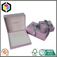 Buy cheap Pink Color Luxury Jewelry Paper Gift Box Packaging Box with Ribbon from wholesalers