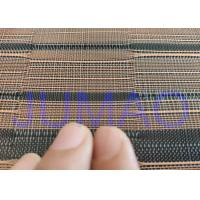 Quality Black And Copper Color Glass Laminated Metal Mesh Fabric With Images for sale