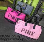 Buy cheap Pink Color Nylon Waterproof Handbag  Large Capacity  Carry-on Bag Durable Multifunction Bag Portable Women Bag from wholesalers