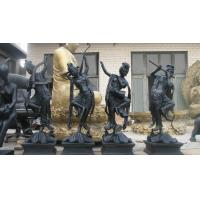 Buy cheap Bronze ancient figure band play music sculpture from wholesalers