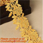 Buy cheap Golden Venise Lace Trim Flower Motif Ribbon Crafts from wholesalers