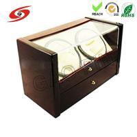 Buy cheap Mabuchi Motor Dual Automatic Glossy Wooden Watch Winder from wholesalers