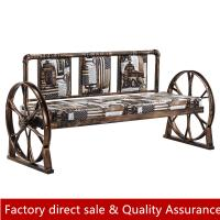 Buy cheap Industrial loft style booth seating metal strong booth wheel base booth sofa custom made size color booth sofa restauran from wholesalers