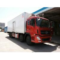 Buy cheap cheapest price Dongfeng Tianlong 8*4 9.6M length refrigerator truck, hot sale Dongfeng 8*4 LHD 25tons cold roon truck from wholesalers