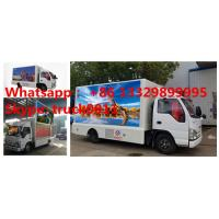 Buy cheap 2017S new ISUZU 4*2 LHD mobile LED billboard advertising truck with 3 sides P6 LED screen, hot sale LED vehicle from wholesalers