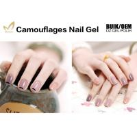 Buy cheap 1kg Bulk Colorful Camouflage Nail Gel OEM / ODM Nail Builder Gel For Salon from wholesalers