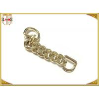 Buy cheap Zinc Alloy Custom Bag Hardware Gold Metal D Ring With Chain Die Casting Plating from wholesalers