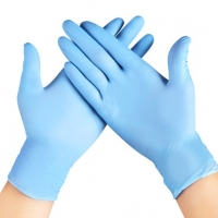 Buy cheap Chemical Resistant Adult Blue Nitrile Exam Gloves from wholesalers