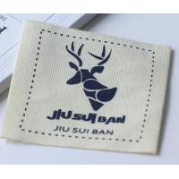 Buy cheap 100% Cotton Clothing Custom Printed Clothing Labels Knitted Fabric from wholesalers
