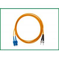 Buy cheap PVC 2 Fiber Optic Patch cord , SM Optical Cable SC to ST Duplex with Duplex Clip from wholesalers