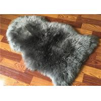 Buy cheap Real Sheepskin Rug Natural Large Light Grey dyed Long lambswool Home Decorative rug from wholesalers