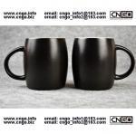 Buy cheap 400ML Beer barrel mug black ceramic beer mug custom advertising LOGO for your design from wholesalers