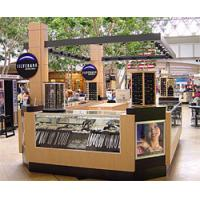 Buy cheap Security media plywood, glass shop food retail malls kiosks, outdoor information kiosk from wholesalers