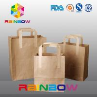 Buy cheap Recycled Brown Customized Paper Bags /  Kraft Paper Bag With Loop Handle For Shopping from wholesalers