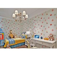 Buy cheap White Embossed Non Woven Kids Bedroom Wallpaper Cake Pattern Fireproof from wholesalers