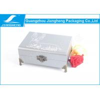Buy cheap Chocolate Faux Leather Gift Box / Leather Packaging Boxes With Metal Standards from wholesalers