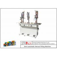 Buy cheap 3 In 1 Volume 20-450ml Aerosol Filling Machine , Aerosol Can Filling Equipment  from wholesalers