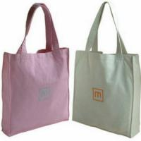 Buy cheap Colorful Promotional 100% Cotton Carrier Bags / Washable Reusable Eco Shopping Bags from wholesalers