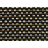 Buy cheap Interior Wall Cladding Johnson  Wire Screen , Antique Brass Finished Crimpled Mesh from wholesalers